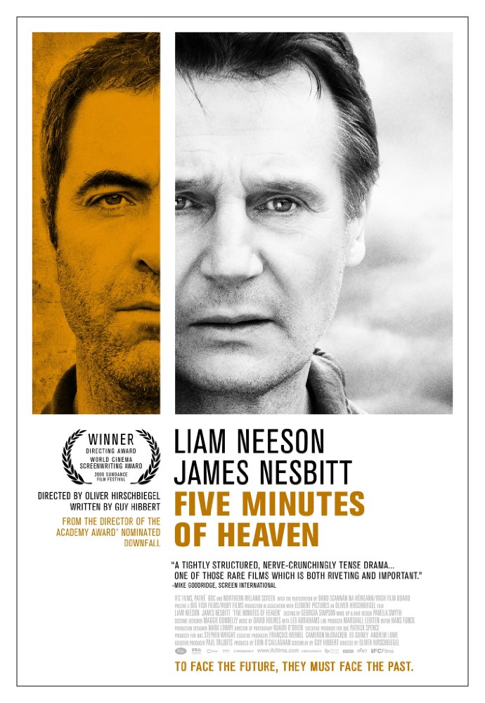 """Five Minutes of Heaven"" Feature Film  Ruby Films BBC Starring Liam Neeson, James Nesbitt. Directed by Oliver Hirschbiegel. Produced by Eoin O'Callahan, Stephen Wright.  Ruby Films (c)"